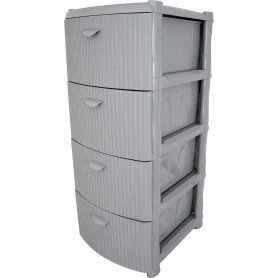 Комод «Вязание» 4 ящика, 40.5х96х50.5 см, цвет серый