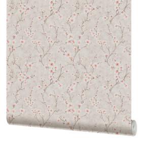 Обои бумажные Московская обойная фабрика Цветущий миндаль розовые 231412-2 0.53 м