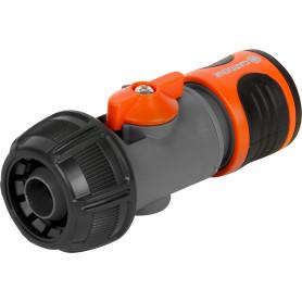 Коннектор для шланга быстросъёмный регулируемый Gardena 3/4 дюйма.