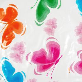 """Скатерть Пикник """"Бабочки"""", прямоугольная, 160х120 см, цвет розовый"""