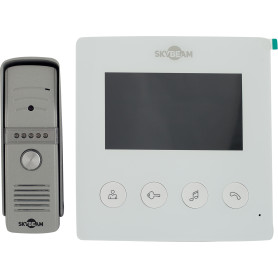 """Комплект видеодомофона вызывная панель и экран 4.3"""" аналоговый"""