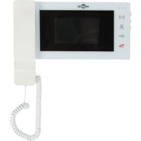 Видеодомофон белый 4,3/ с трубкой