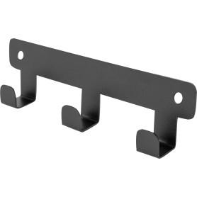 Планка Ferro 3 крючка цвет чёрный