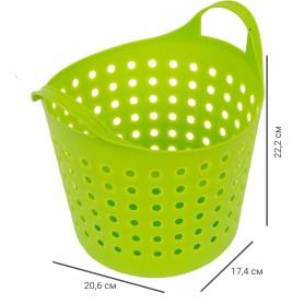 Корзинка Soft 4.1 л, цвет зелёный