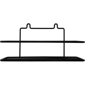 Полка настенная 25х8.5х12.5 см цвет чёрный