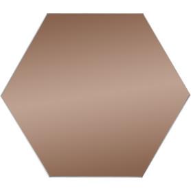Плитка зеркальная Mirox 3G шестигранная 20x17.3 см цвет бронза