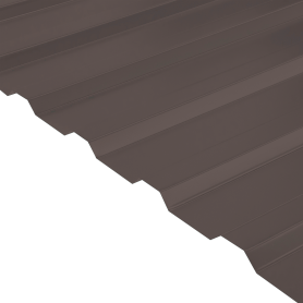 Профнастил С20 0.45 мм 1150х2000 мм коричневый RAL 8017