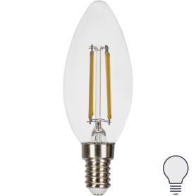 Лампа светодиодная Gauss LED Filament E14 11 Вт свеча прозрачная 750 лм, нейтральный белый свет