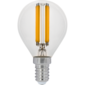 Лампа светодиодная Gauss LED Filament E14 11 Вт шар прозрачный 720 лм, тёплый белый свет
