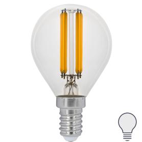 Лампа светодиодная Gauss LED Filament E14 11 Вт шар прозрачный 750 лм, нейтральный белый свет