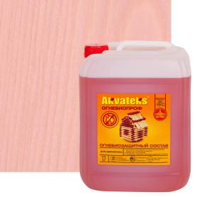 Огнебиозащитный пропиточный состав для древесины Akvateks DIY I и II-я группа эффективности цвет индикаторный розовый 11 кг