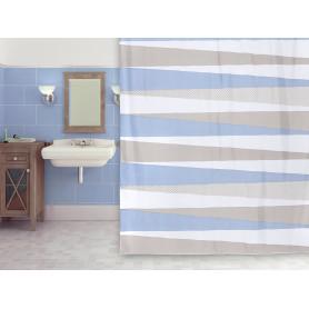 Штора для ванны Elpoa, 180х200 см, полиэстер, цвет бежевый/голубой