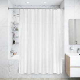 Штора для ванны Gold Rain, 180х200 см, полиэстер, цвет белый/золотой