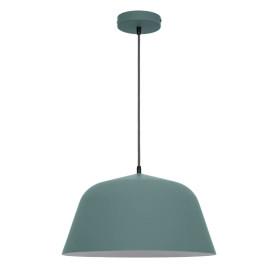 Светильник подвесной «Bells», 1 лампа, 2 м², цвет зелёный