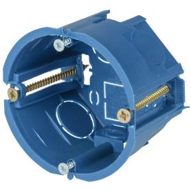 Подрозетник одноместный IEK для полых стен 68х45 мм цвет синий