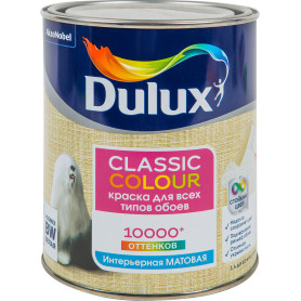 Краска для обоев Dulux Classic Colour база BW 1 л
