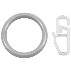 Кольцо, пластик, цвет серебро, 2 см, 10 шт.
