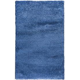 Ковёр «Шагги Тренд» L001, 0.6х1.1 м, цвет синий