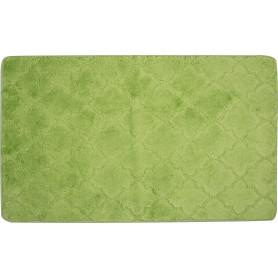 Коврик для ванной «Лана» 70х120 см цвет зелёный