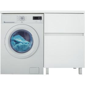Тумба под стиральную машину напольная «Лайн» 58 см цвет белый