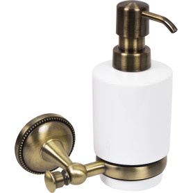 Дозатор подвесной для жидкого мыла Alfa, цвет антик