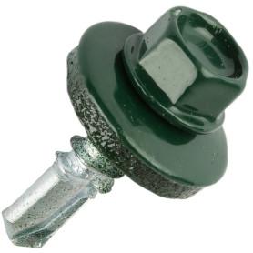 Саморезы кровельные Standers 5.5x19 мм RAL 6005 цвет зелёный, 120 шт.