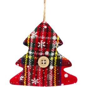 Украшение декоративное подвесное «Ёлочка», текстиль