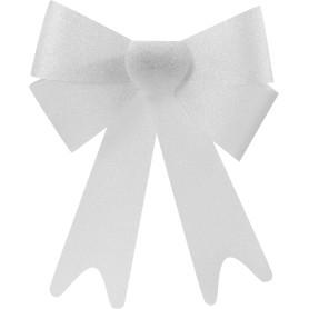 Украшение ёлочное «Бант из парчи», 30 см, текстиль, цвет серебро