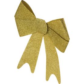 Украшение ёлочное «Бант из парчи», 30 см, текстиль, цвет золотой