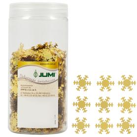 Набор ёлочных украшений «Снежинки», 2 см, пластик, цвет золото