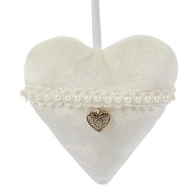 Украшение ёлочное «Сердце», 10 см, металл