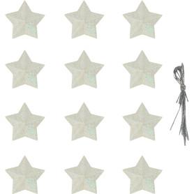 Набор ёлочных украшений «Звёздочки из парчи», 4.5 см, текстиль, 12 шт.