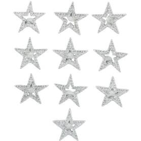 Набор украшений с клеевой основой «Звезды», 3х4 см, 10 шт.