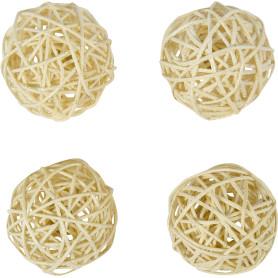 Набор ёлочных шаров, 7 см, ротанг, 4 шт.