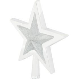 Верхушка для ёлки «Звезда», 25.5 см, цвет серебро