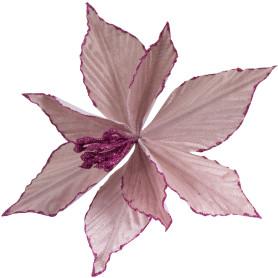Украшение ёлочное «Заснеженный цветок», 18 см