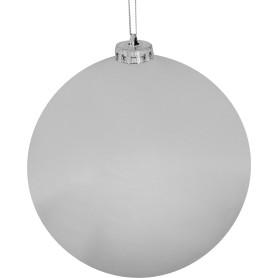 Шар ёлочный, 6 см, пластик, цвет серебро