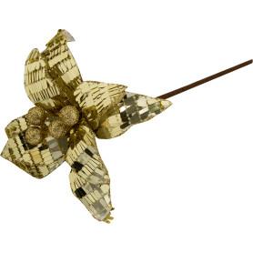 Украшение «Листочек дерева» 17 см цвет золото