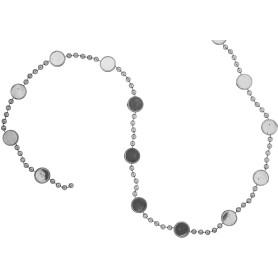 Гирлянда пластиковая 180 см цвет серебро