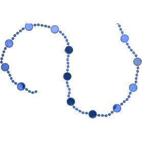 Гирлянда пластиковая 180 см цвет голубой