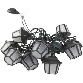 Электрогирлянда комнатная нить «Фонарики» 1.8 м 10 LED тёплый белый
