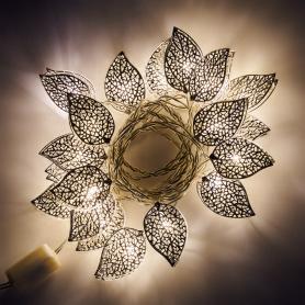 Электрогирлянда комнатная нить «Листья» 2.85 м 20 LED тёплый белый