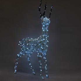 Электрогирлянда-фигура светодиодная «Олень» для улицы 260 ламп, цвет холодный белый