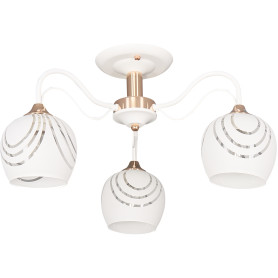 Люстра потолочная Element «Katy» 1252/3C, 3 лампы, 9 м², цвет белый/золотой