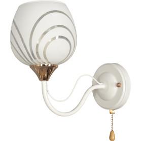Настенный светильник Katy 1252/1W, цвет белый/золотой