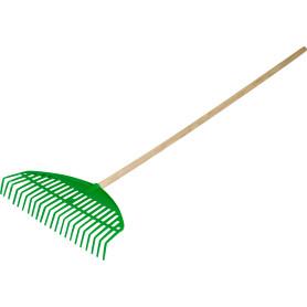 Грабли веерные Оазис, пластик, деревянный черенок