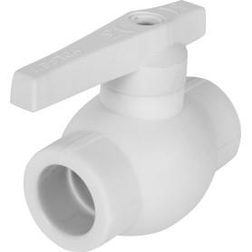 Кран шаровый Ø25 мм полнопроходной, полипропилен
