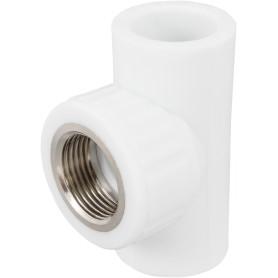 Тройник ⌀25 х 25 мм ВР полипропилен