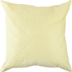 Подушка стёганая, 50х50 см, цвет цитрон