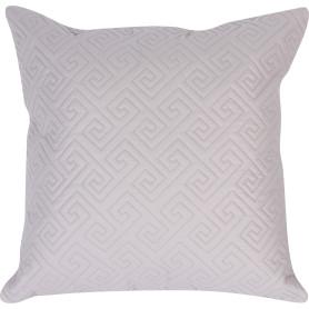 Подушка стёганая, 50х50 см, цвет светло-серый